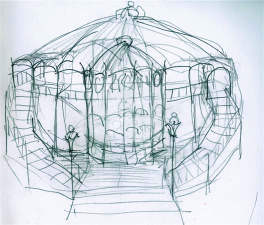 Sketch of the future tent